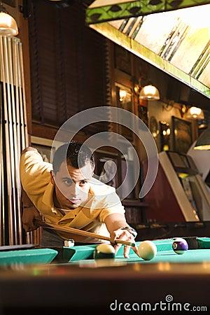 Free Man Playing Pool. Stock Image - 2044051