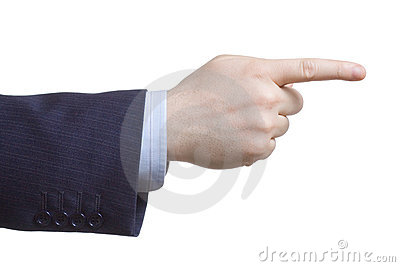 Man pointing with his finger