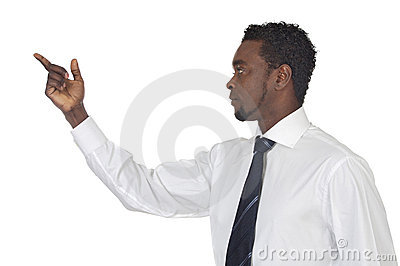 Man Pointing At Nothing Stock Photography - Image: 3735062