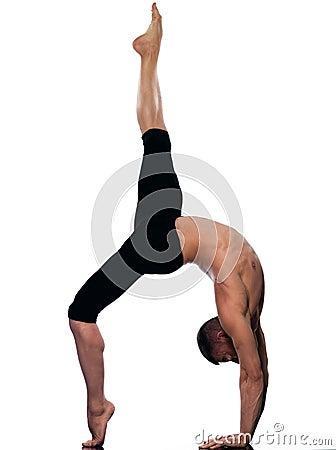 Man portrait gymnastic acrobatics balance