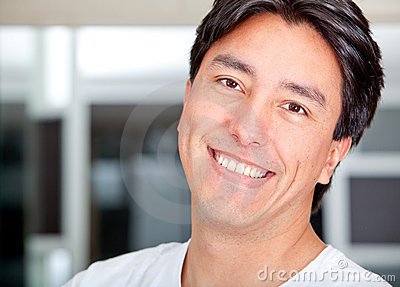 Man portrait smiling