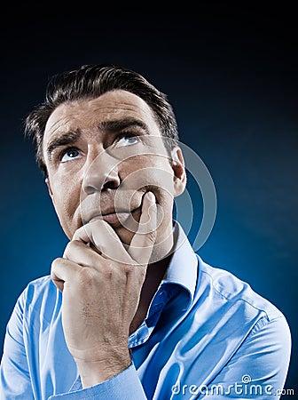 Man Portrait Think Concentrate