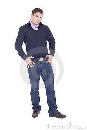 Man posing in studio