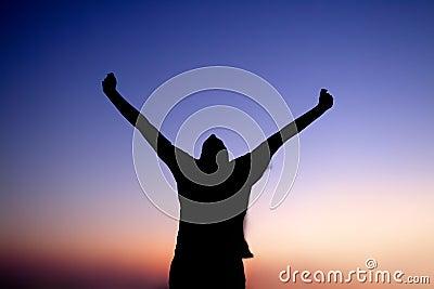Man Praising at Night