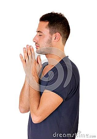 Man pray his god