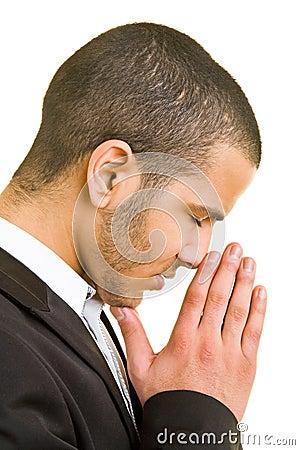 Free Man Praying Stock Photography - 8986802