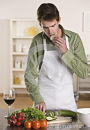 Man Preparing Meal