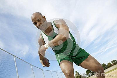 Man Preparing To Throw Discus