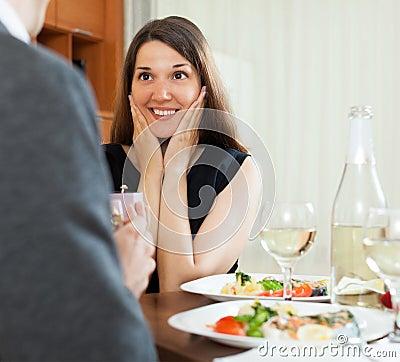 Man presents girl ring