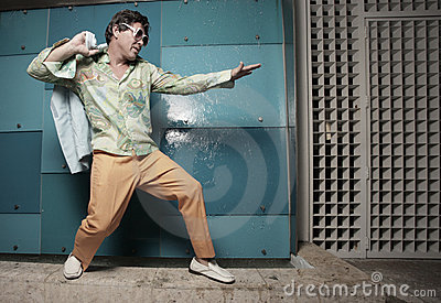 Man Pretending To Surf Royalty Free Stock Photography - Image: 11504407
