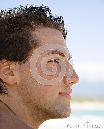 Man profile portrait.