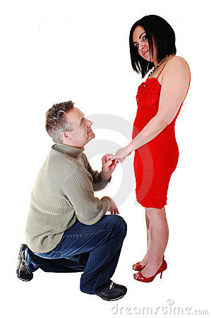 A man proposing.