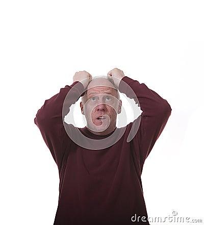 Clipart Man Pulling Hair