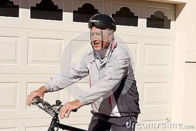 Man on  Pushbike