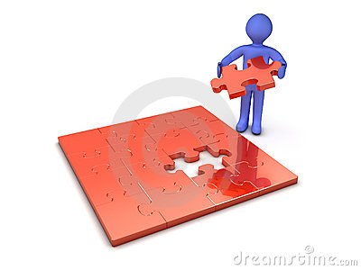 Man with Puzzle