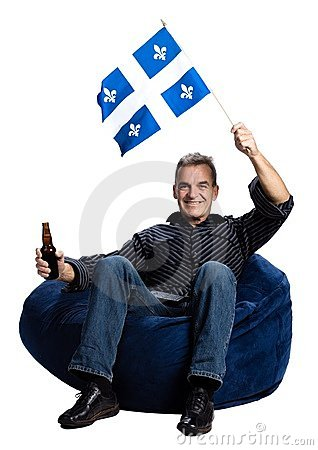 Man with a quebec flag