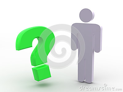 Man and question