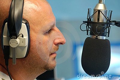 Man with radio microphone
