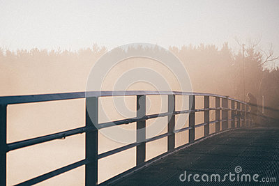 Man Beside Rail Of Bridge Free Public Domain Cc0 Image