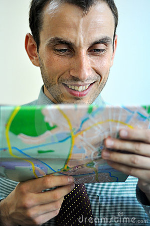 Man reading map