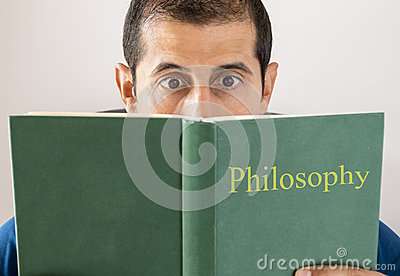 Man reading philosophy