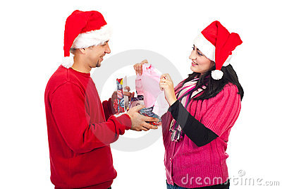 Man receive a surprising Xmas gift from his wife