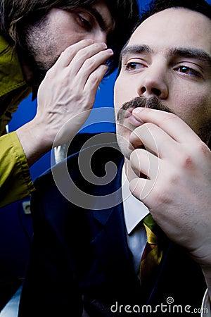 Man Receiving Secret Information