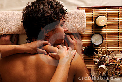 Man - recreation,  rest,  relaxation and massage