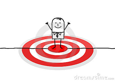 Man on red target