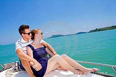 Man Relaxing On A Boat