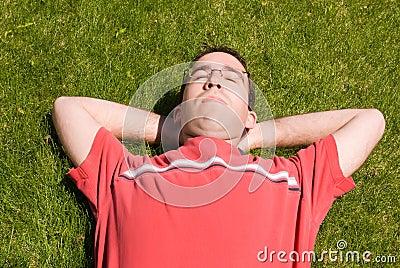 Man Relaxing In The Sun