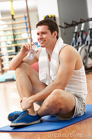 Man Resting After Exercise