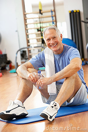 Man Resting After Exercises
