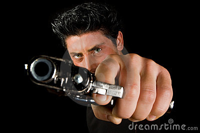 Man with revolver