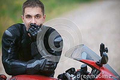 Man rides nice bike