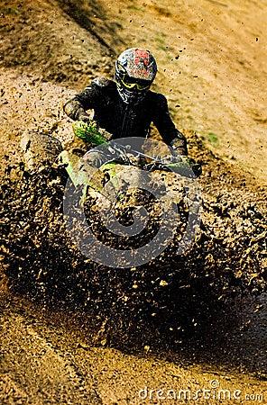 Man riding ATV .