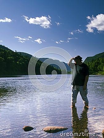 Man and river landscape