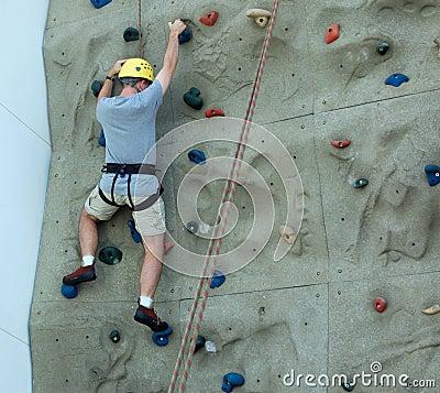 Free Man Rock Climbing Stock Images - 6525574