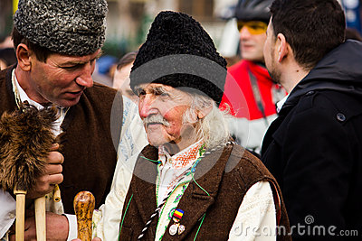 Man in Romanian traditional costume Editorial Stock Photo