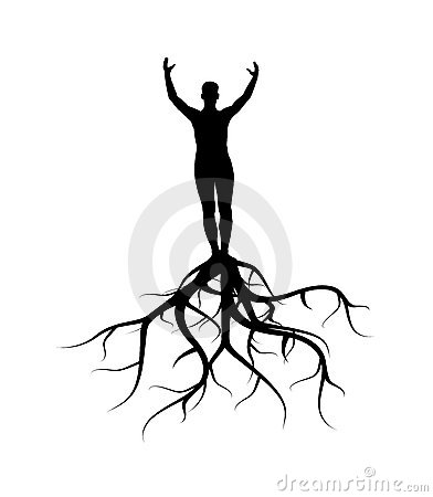 Man with roots