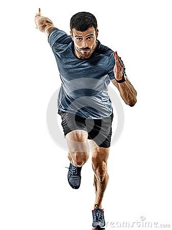 Free Man Runner Jogger Running Jogging Isolated Shadows Royalty Free Stock Photography - 93887637