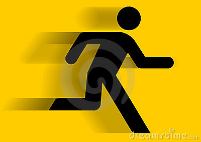 Man running graphic