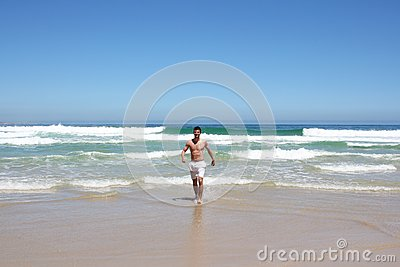 Man running out of water