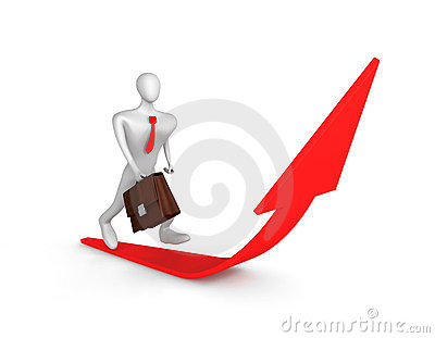 Man Running Up To Success Royalty Free Stock Photography - Image: 23657087