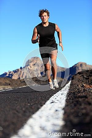 Man running work out