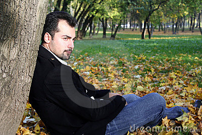 Man s autumn portrait