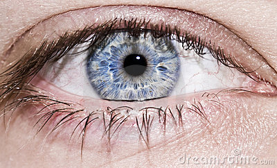 Man s blue eye