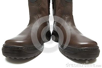 Man s boots on a thick sole