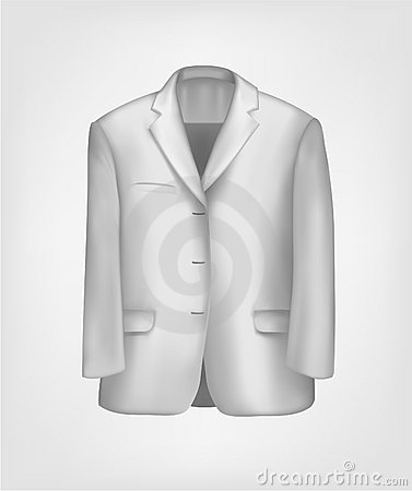 Man s elegant white suit. Vector illustration