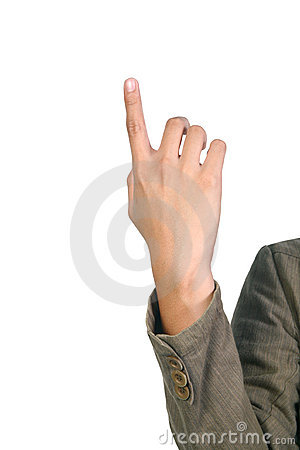 Man s hand pointing